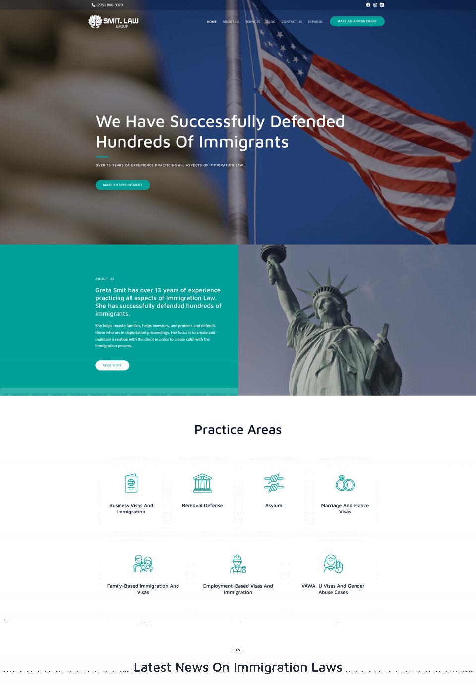 Web development for lawyers Smit.Law Group