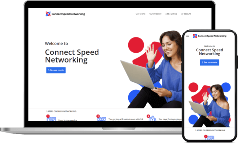 Website design services for Connect Speed Networking