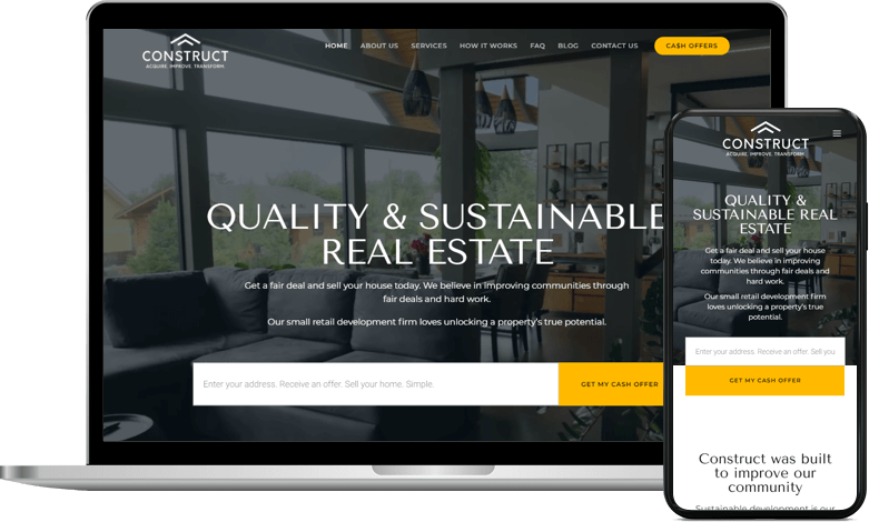 The Construct Company enjoys the advantages of online real estate marketing