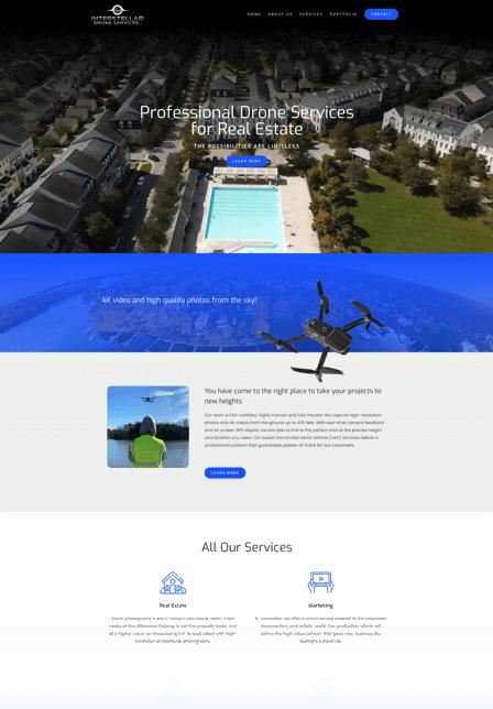 Print Design for real estate companies likeInterstellar Drone Services