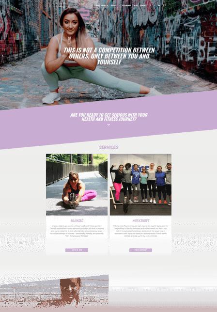 Blog website design Priscilla Johnson
