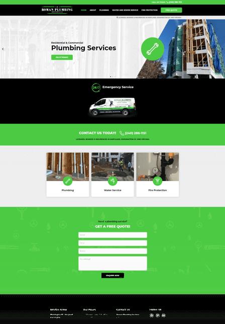 Plumber marketing company for Roman Plumbing