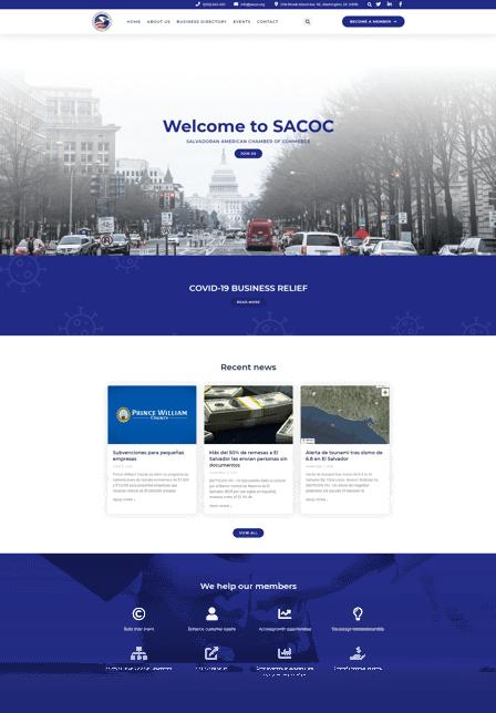 Chamber of commerce web design SACOC