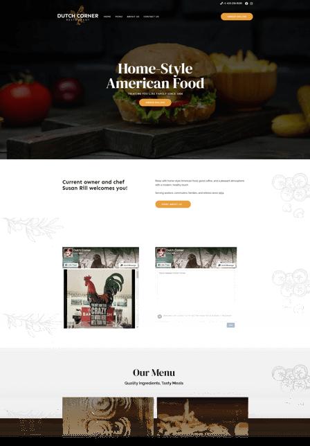 Seo strategy for restaurants Dutch Corner