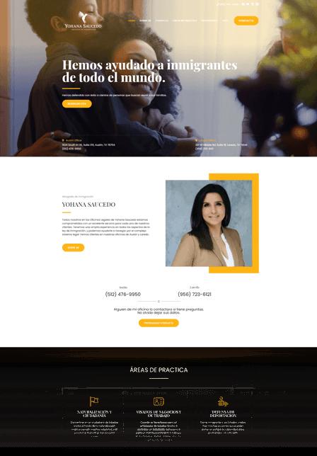 Web Development for lawyers Yohana Saucedo