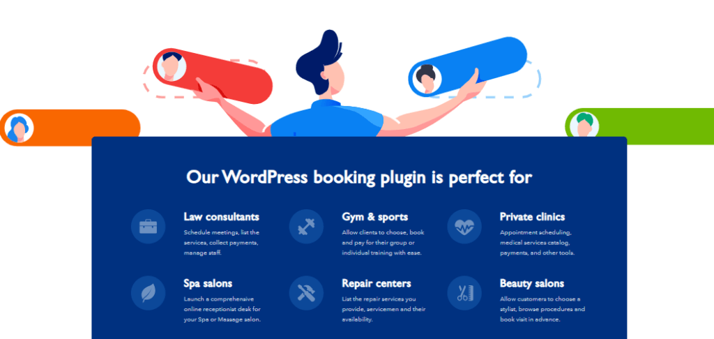 Amelia plugin is perfect for many businesses