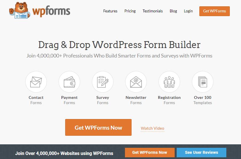WPForms builder