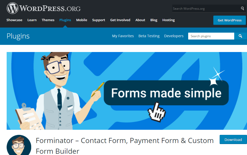 forminator contact form