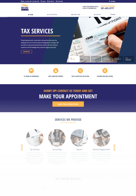Tax marketing services for Refund Plan