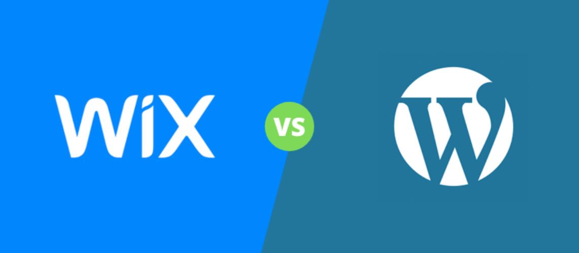Image representing wordpress vs wix in battle